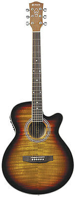 Chord Cmj4Ce Electro-Acoustic Guitar Flame Sunburst 4-Band Eq 174.415