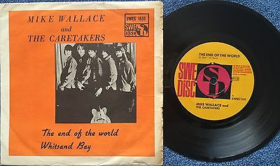 """Mike Wallace And The Caretakers Sweden Orig Garage Freakbeat  7"""" Ps"""