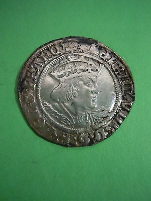 Great Britain Henry Viii Canterbury Mint Silver Medieval Groat