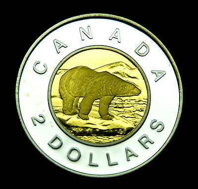 """2000 Canadian proof silver """"toonie"""" that is BU.  Gorgeous coin #2"""