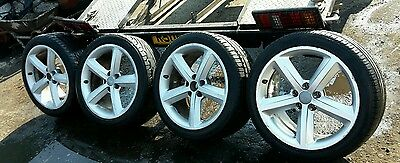 "Audi A4 B8 S Line 18"" Alloys And Tyres Full Set"