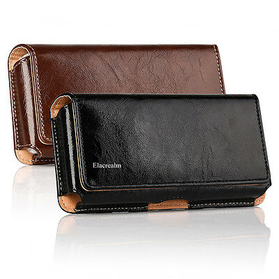 Cellphones Horizontal Carrying Leather Pouch Case Cover With Belt Clip Holster