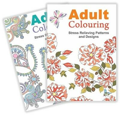 2 Mind Relaxation Colouring Books Anti Stress Patterns & Designs Art Therapy Uk