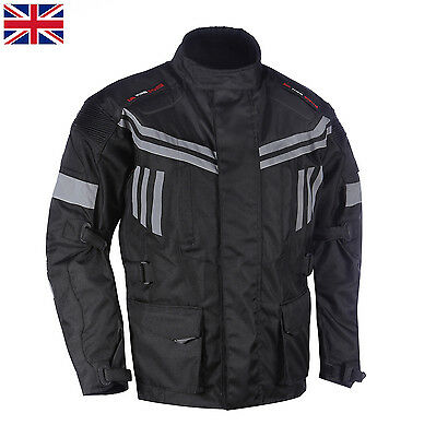 Mens Waterproof Genuine Motorbike Motorcycle Cordura Jacket CE Armourd