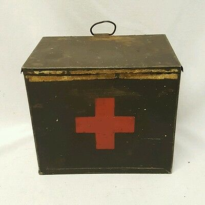 Antique Vintage very early First Aid Tin Box