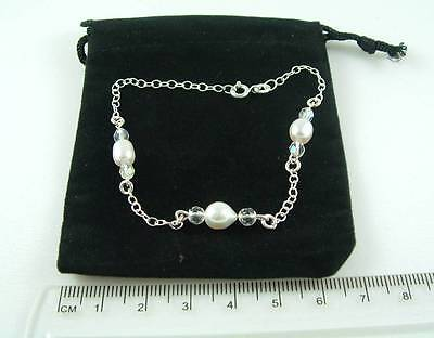 925 Sterling Silver and pearls Bracelet new in gift bag.