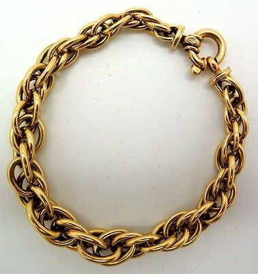 Vintage 18K Yellow Gold Prince of Wales Chain Link Bracelet 7 Inch Hallmarked
