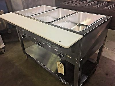 Duke 303M Aerohot Steam Table Hot Food  Unit, 3 Wells  & Carving Board #11049