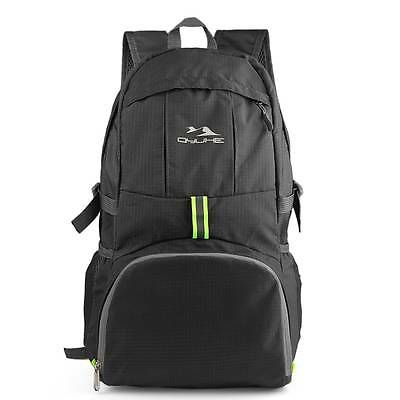 Packable Travel Traveling Hiking Backpack Daypack Men Women Lightweight Black