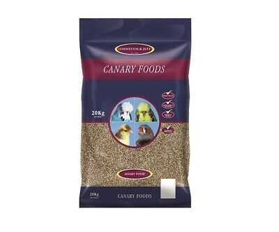 20Kg Johnston & Jeff Favourite Canary Seed Food With Yellow Egg Biscuit & Niger