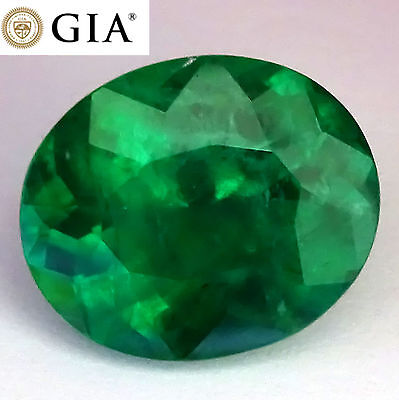 42 Ct Green Brazilian Emerald Loose Gem Gia