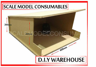 1:18 1-18 1/18 118 Scale Mdf Warehouse Shell Bare Mdf Diorama Kit Diy Made In Uk