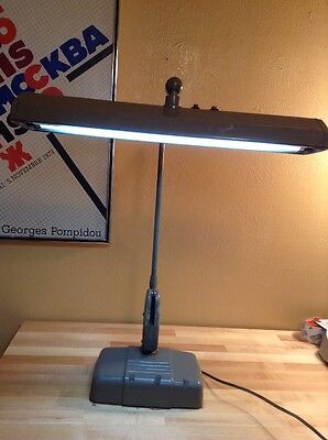 Vintage DAZOR Floating Fixture Fluorescent Desk Lamp Model P 2324