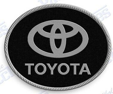 "TOYOTA  iron on embroidery patch 2.2 X 1.75""  EMBROIDERED auto car Automobile"
