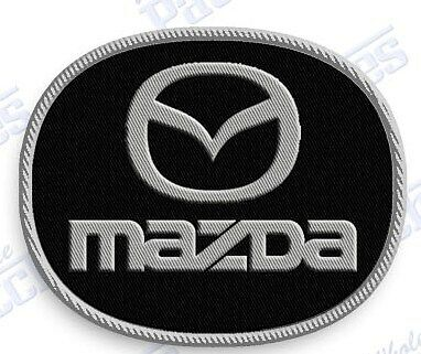 "MAZDA  AUTO CAR  iron on embroidery patch 2.0"" X 2.0""  EMBROIDERED  Emblem Logo"