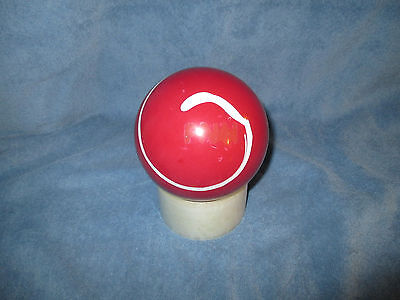 DUCKPIN BOWLING BALL Comet Rubber Red & White 3Lb 10 Oz 4 7/8