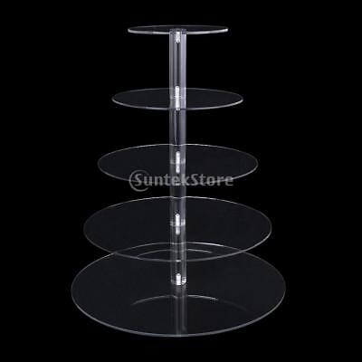 Acrylic Round Cupcake Stand Birthday Wedding Party Cake Dessert Display Tower