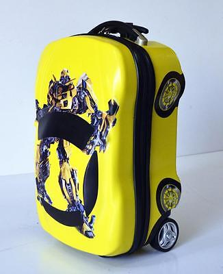 New Deluxe Kid Wheeled Rolling Suitcase Travel Bag Luggage Trolley (bumblebee)