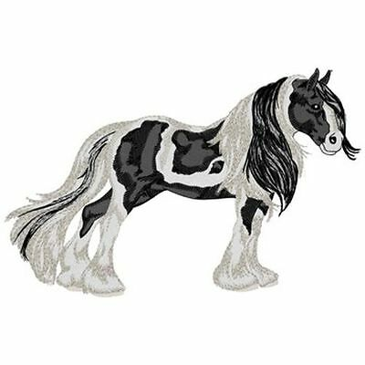 """Gypsy Vanner Horse Embroidered Patch Approx Size 8.1""""x5.2"""""""