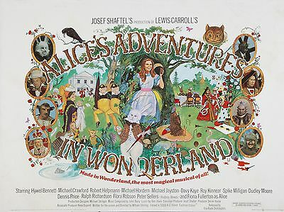 """Alices Adventures in Wonderland 16"""" x 12"""" Reproduction Movie Poster Photograph"""