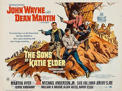 """The Sons of Katie Elder 16"""" x 12"""" Reproduction Movie Poster Photograph"""