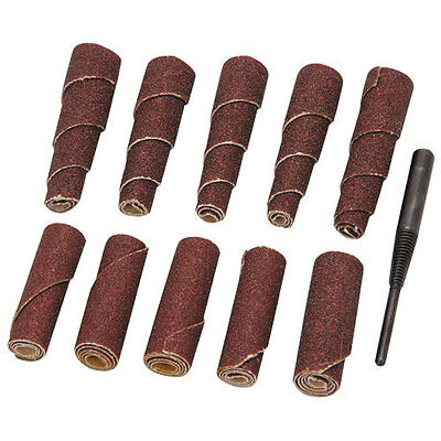 "NEW 10pc Cartridge & Sprial Abrasive Roll Set 1/4"" Shnk"