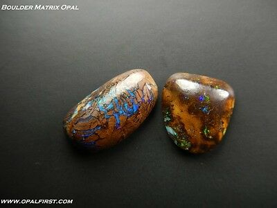 13 ct natural solid Queensland boulder matrix opal from Australia by Opal First!