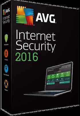 AVG Internet Security 2016 - 3 Users 1 Year License Key Download Only