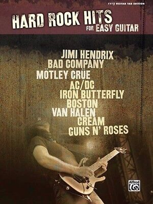 Hard Rock Hits For Easy Guitar TAB Book *NEW* Music Songs