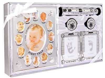 New 5 Piece Baby Keepsake Gift Set suitable for Unisex, Boy, Girl, First Photo F