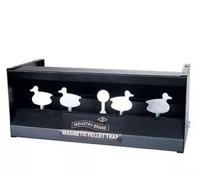 New Steel Air Rifle Shooting Duck Magnetic Knock Down Target Pellet Trap Catcher