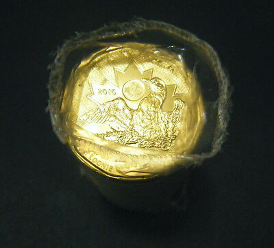 2016 Canada Olympic Lucky Loonie Roll (25 coins)  $1 coin One Dollar Canadian