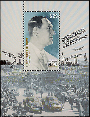 Argentina-2015-Juan Domingo Peron- Icons Of The National Industry -Stamps-