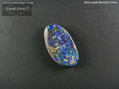 2.6 ct natural solid Queensland boulder matrix opal from Australia by Opal First