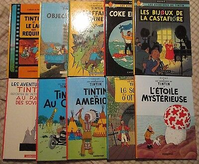 Tintin - Lot of 10 Tintin (Hardcover book) French