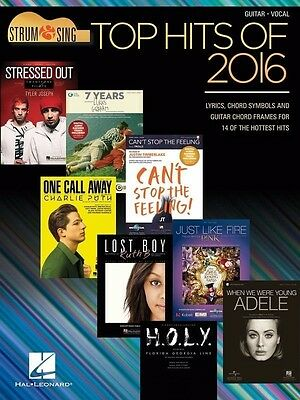 TOP HITS OF 2016 Strum & Sing Guitar Book *NEW* Songbook
