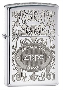 "ZIPPO LIGHTER - Zippo Crown Stamp ""American Classic"" Lighter - Genuine - Beware"