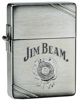 ZIPPO LIGHTER - Zippo Jim Beam 1935 Replica Brushed Chrome Lighter