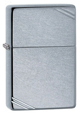 ZIPPO LIGHTER - Zippo Vintage Street Chrome Lighter - Slim- Genuine - Beware of