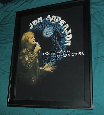 Yes Jon Anderson Tourbook/album Insert Framed Concert Shirt Signed Fragile