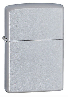 Zippo Classic Satin Finish Chrome Lighter - Full Size 205 Genuine