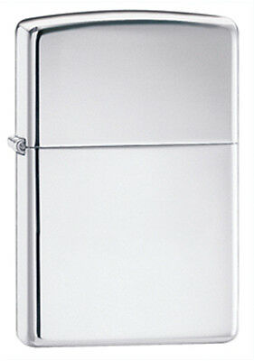 Zippo Classic High-Polished Chrome Lighter - Full Size 250 Genuine