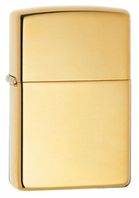 Zippo Classic High-Polished Brass Lighter - 254B Genuine