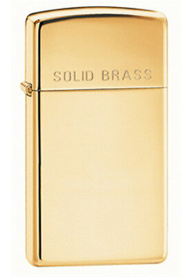 Zippo Classic High-Polished Brass Etch Lighter - Slim 1654 Genuine