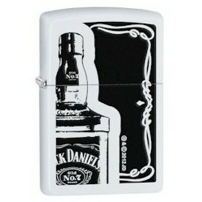 Zippo Jack Daniels White Matte Lighter - 28252 Genuine