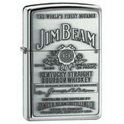 Zippo Jim Beam Full Label Pewter Chip Lighter - 250JB928 Genuine