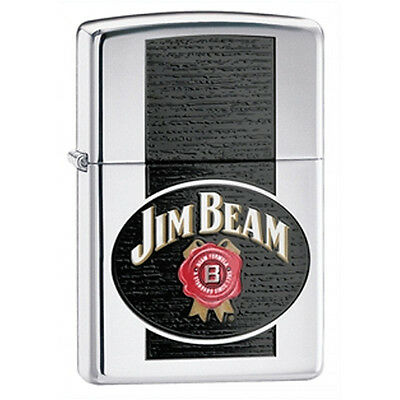 Zippo Jim Beam High-Polished Chrome Lighter - 28071 Genuine