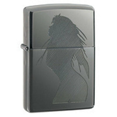 Zippo Seductive Silhouette Black Ice Lighter - 20762 Genuine