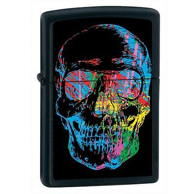Zippo Skull Black Matte Lighter - 28042 Genuine