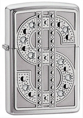 Zippo Swarovski Bling Emblem Lighter - 20904 Genuine